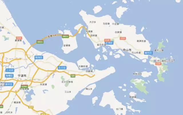 舟山岛南部片区25.35平方公里
