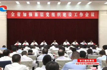 全省加强基层党组织建设工作会议召开李希讲话 马兴瑞主持会议