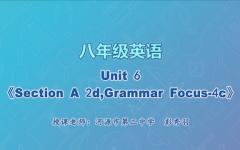 【4月29日】八年级英语Unit6 《Section A 2d,Grammar Focus-4c 》
